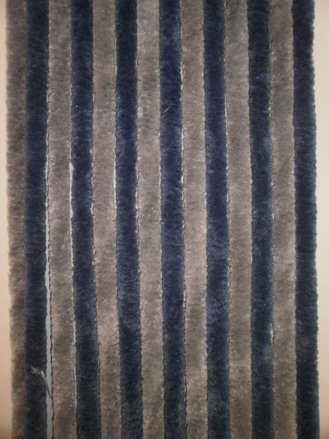 tenda ciniglia grigio azzurro 56x185