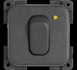 interruttore unipolare cbe mc12n grigio con led