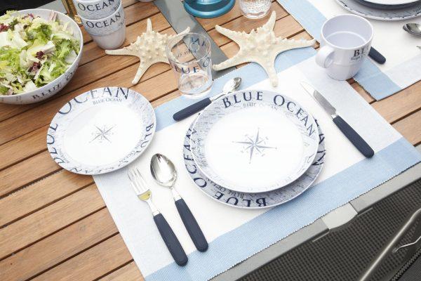 piatto dessert blue ocean