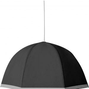 lampadario sixray ad ombrello grigio