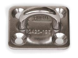 ganci in acciaio kit square plates 4pz