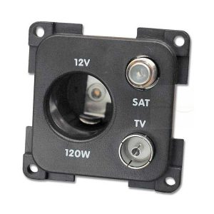 presa 12v auto e tv e sat cbe mp12atvs marrone
